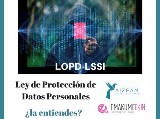 Taller protección de datos. LOPD y LSSICE