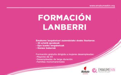 Lanberri, una formación dirigida para mujeres en situación de desempleo de Bizkaia